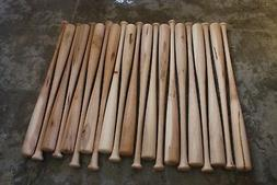 10 Brand New Wood Wooden Baseball Bats...ASH MAPLE Craft Qua