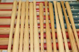 13 baseball bat halves for DIY baseball bat American flag. 1