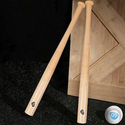 "2pcs 34"" Natural Wooden Baseball Bat Youth & 2pcs 9"" Ball Se"