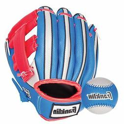 Franklin Sports Air Tech Soft Foam Baseball Glove and Ball S