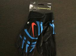 NIKE ALPHA HUARACHE ELITE BASEBALL BATTING GLOVES NEW BLACK