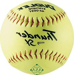 Dudley ASA Thunder Hycon Slow Pitch Synthetic Ball - Yellow