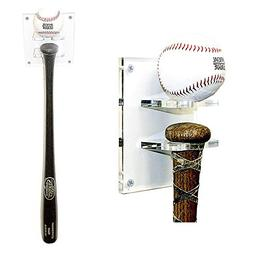 Better Display Cases Baseball Bat and Ball Combo Vertical Di