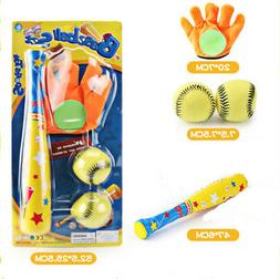 Baseball Bat Glove And Soft Ball Safety Colorful Sports Toy