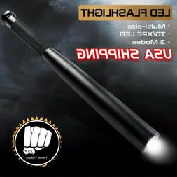 Baseball Bat LED Flashlight 9000 LM T6 Torch Self Defense Se