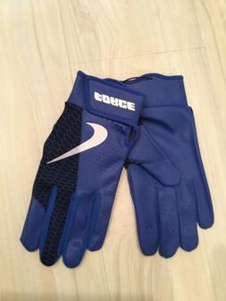 Nike BASEBALL Force Edge Batting Gloves Adult LARGE Blue/Whi
