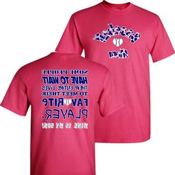 Baseball Mom and her Favorite Player on a Pink Shirt ~ Ball
