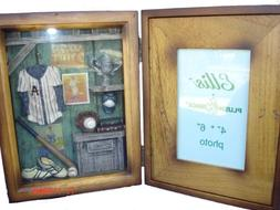 Ellis Collections Baseball Shadow Box Picture Photo Frame -