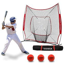 Rukket 7x7 Baseball & Softball Practice Hitting Net Bundle w
