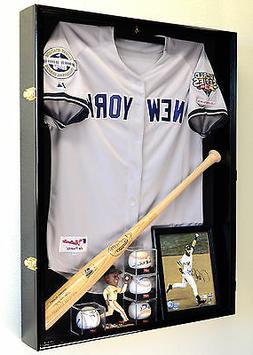 Deep Sports Jersey Shadow Box Display Case Cabinet Baseball