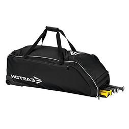 "Easton E610W Wheeled Bag Baseball Bag, Black, 36"" x 14.5 x 1"