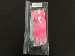NIKE HUARACHE BASEBALL BATTING GLOVES NEW PINK COLOR SIZE EX