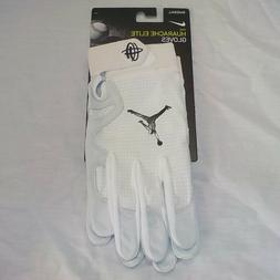 Nike HUARACHE ELITE Air Jordan Baseball Batting Gloves WHITE