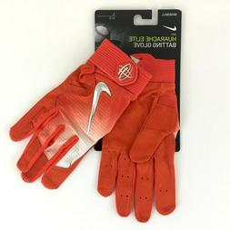 Nike Huarache Elite Baseball Batting Gloves Orange Size Larg