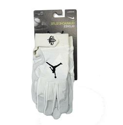 Nike Huarache Elite Jordan Baseball Batting Gloves White 2XL