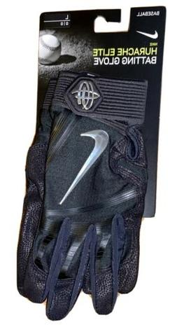 Nike Hurache Elite Batting Baseball Gloves Black Adult  Larg