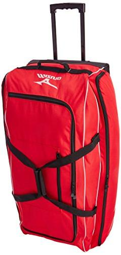 Mizuno 360178 Red MX Equipment Wheeled Bag Baseball & Softba