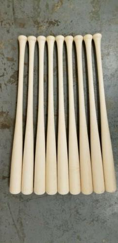 """9 34"""" Wood Baseball Maple Blem Bats Game Ready CUPPED ENDS"""