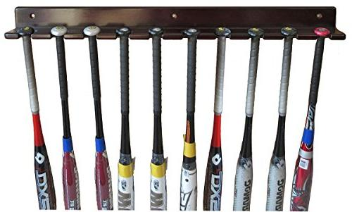 baseball bat display rack wall