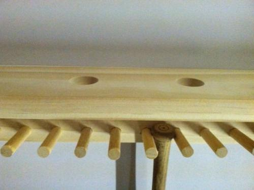 Baseball Bat Rack Ball Holder Natural Finish Meant to up Mini Collectible Bats Baseballs