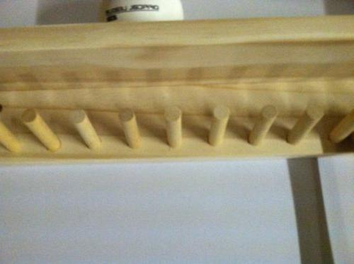Baseball Bat and Ball Holder Natural Finish Meant up to Collectible Bats Baseballs