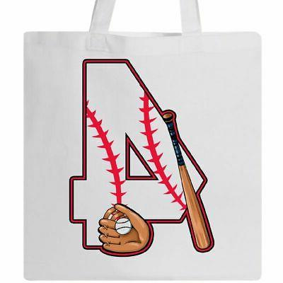 baseball fourth birthday four years old tote