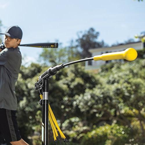 SKLZ Hurricane 4 Batting Trainer and Softball, Practice Dynamic Height for any or Position, Swing - JS10-000