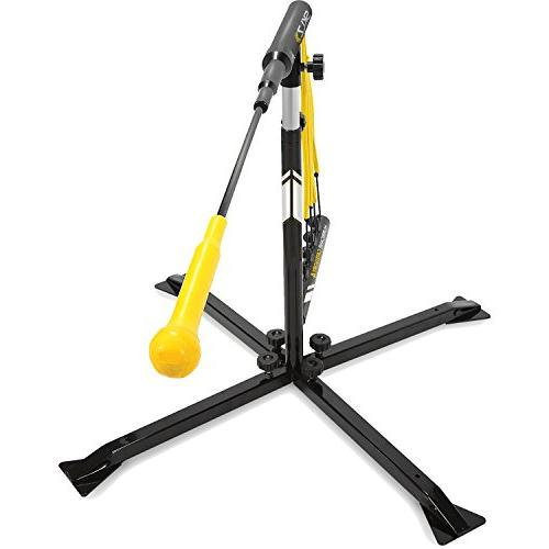 SKLZ Hurricane Category Batting Solo Swing Trainer and Softball, Tee Dynamic Moving Target, Adjustable Height or