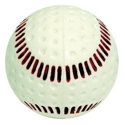 seamed machine white baseball