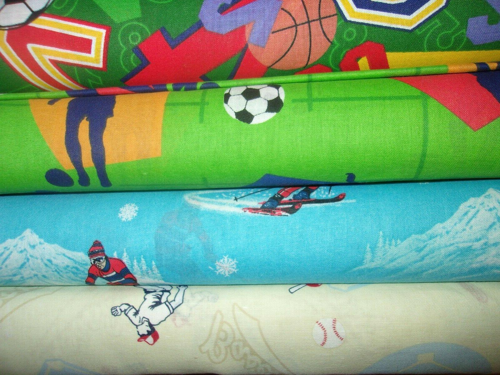 sports baseball soccer skiing football quilt cotton