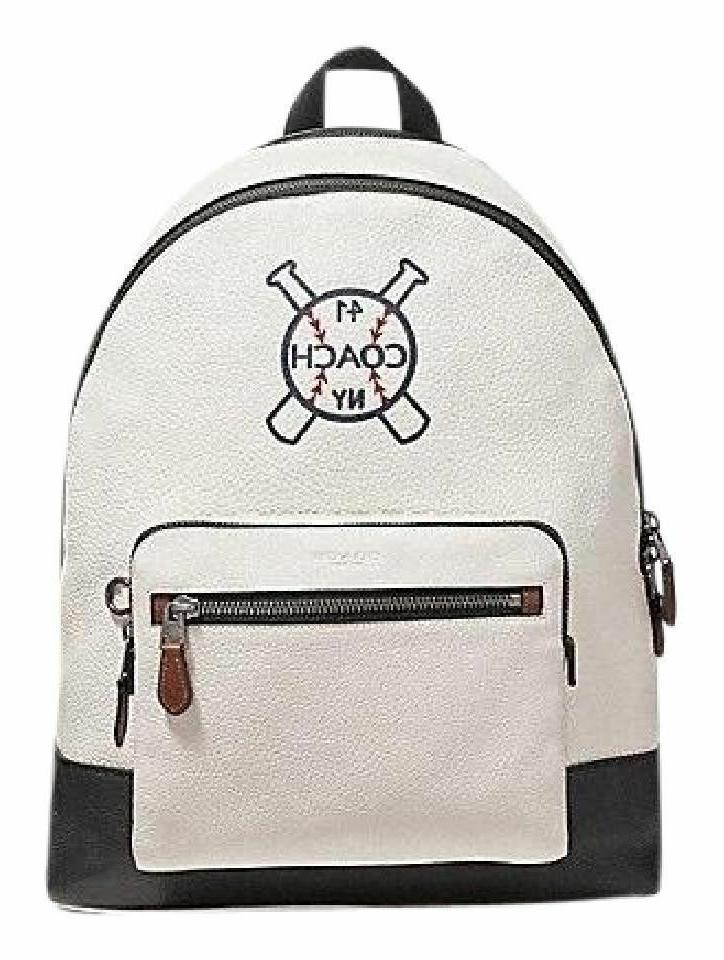 west backpack with baseball and bats chalk