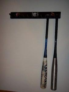 Wood Full Size Baseball Softball Bat Rack Display 6-11 Bats