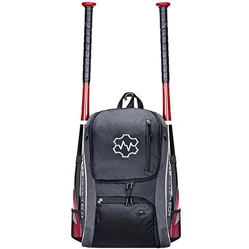 FAVORGEAR Bag, for T-Ball Basketball, Sports Equipments for Adults - Fits Bats, Helmet, Vented Shoe Hook