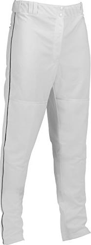 Marucci Youth Elite Double Knit Piped Baseball Pant, White/B