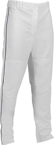 Marucci Youth Elite Double Knit Piped Baseball Pant, White/N