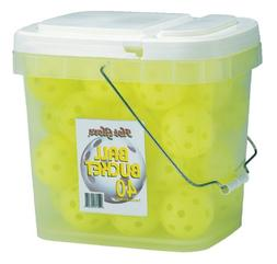 Hot Glove Optic Yellow Practice Baseballs Bucket of 40 Balls