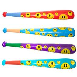 "Rhode Island Novelty 42"" Smiley Face Baseball Bat Inflate"