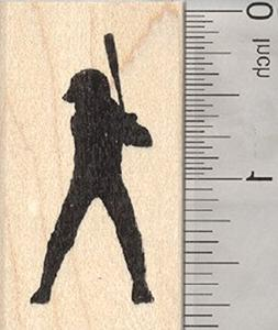 softball player rubber stamp