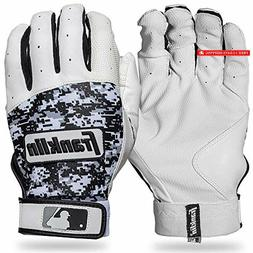 Sports MLB Digitek Baseball Batting Gloves - Gray/White/Blac