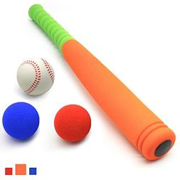 CELEMOON 21-Inch Kids Soft Foam Baseball Bat Toy + Different