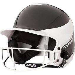 RIP-IT Vision Pro Fastpitch Batting Helmet with Mask White/B