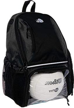 LISH Volleyball Backpack - Large School Sports Bag w/Ball Co