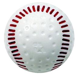 Baden White Dimpled Baseballs with Red Seams