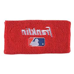 Franklin Sports Professional Wristbands, Red, 4-Inch