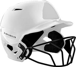 EvoShield XVT Batting Helmet with Facemask, White - Youth