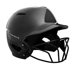 EvoShield XVT Luxe Fitted Batting Helmet with Facemask, Blac