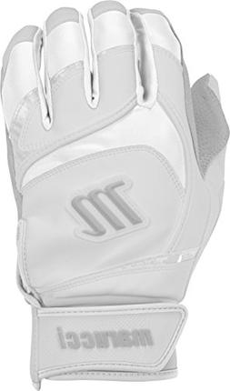Marucci Youth Signature Baseball Batting Gloves, White, Larg